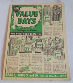 1965 Sears Roebuck and Co Sale Catalog Value Days 56 Pages Clothes Household