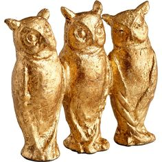 I pinned this Three Who Owl Sculpture from the Where the Wild Things Are event at Joss and Main! Creature 3d, Nocturnal Birds, Sculptures, Lion Sculpture, Sculpture Ideas, Owl Always Love You, Owl Art, Cute Owl, Gold Texture