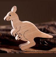 Kangaroo wooden animal figures