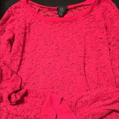 Rue 21 long sleeved top. This is a long sleeve Rue 21 pink top size xlarge. Rue 21 Tops Camisoles