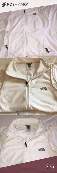 Women's White North face Vest White Women's North fave vest! Barely worn in feat condition. Thin fleece vest. Feel free to ask questions! The North Face Jackets & Coats Vests