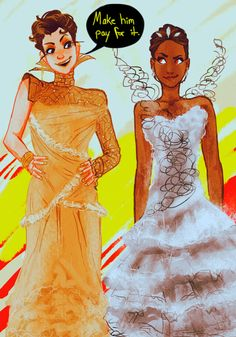 Johanna and Katniss