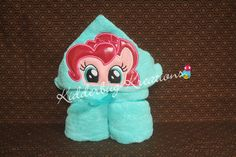 Pink pony hooded towel for children - pinned by pin4etsy.com
