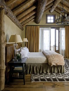 Merveilleux Mountain Retreat. Rustic BedroomsLog ...