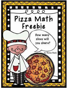Fantastic First Grade Froggies: Pizza Fractions (Freebie)