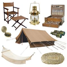 The Steampunk Home: Out of Africa Decor I would include a bamboo folding campaign table. Pinboard by Ann Merrick on Design Sponge.