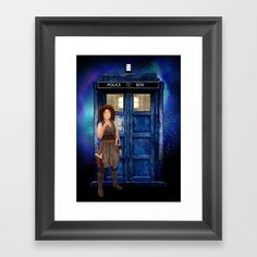 Mrs River Diary Doctor who FRAMED ART PRINT SCOOP BLACK MINI #framedartprint #framed #artprint #artdesign #digitalart #digital #painting #watercolor #ink #3d #illustration #popart #tardisdoctorwho #thedoctor #doctorwho #alexkingston #timelord #riversong #timevortex  #badwolf #publiccallbox