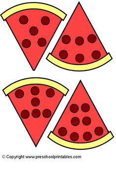 www.preschoolprintables.com / File Folder Game/ Pizza Number Party