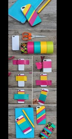 Anahita duct tape projects, duck tape crafts, diy projects, diys, i spy diy Diy Case, Diy Phone Case, Iphone Cases, Iphone 8, Apple Iphone, Duct Tape Projects, Duck Tape Crafts, Diy Accessoires, Accessoires Iphone