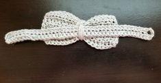 Little Dude Bow Tie Free Crochet Pattern - Two Brothers Blankets Crochet Bows Free Pattern, Crochet Bow Ties, Crochet Hair Bows, Easy Crochet Patterns, Cute Crochet, Crochet Ideas, Crochet Stitches, Newborn Crochet, Crochet Baby