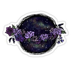 flowers n space. Tumblr Stickers, Cool Stickers, Printable Stickers, Laptop Stickers, Alien Aesthetic, Boho Aesthetic, Journal Stickers, Planner Stickers, Sticker Bomb