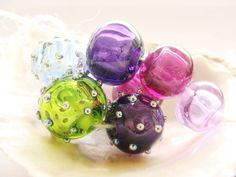 8 Hollow Lampwork Beads by IrinaS on Etsy, $40.00