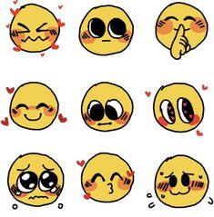 Emoji Drawings, Cute Drawings, Drawing Face Expressions, Emoji Images, Cute Emoji, Drawing Base, Cute Memes, Drawing Reference Poses, Drawing Challenge