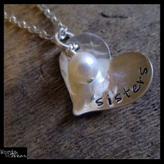 Custom Personalized Hand Stamped Hammered Sterling Heart