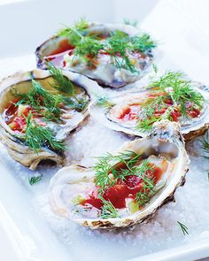 Bloody Mary Oysters | Sweet Paul Magazine #Ousters #Seafood #SweetPaul