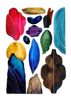 Frau Grau Colorful Shapes Illustrations