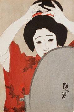 Kitano Tsunetomi(1880〜1947) 「鏡」