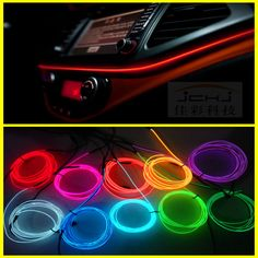 Led Strip Lights For Cars 4Pcs Carstyling Led Strip Lights Colorful Car Rgb Led Strip Light