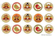 15 Turkey Pilgrims 2 Digital Download for 1 Bottle by MaddieZee, $1.25