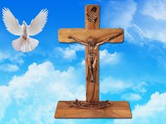 Thorn Cross on a stand by Jesusolivewood on Etsy, $28.00