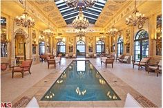 tuscan style indoor pool