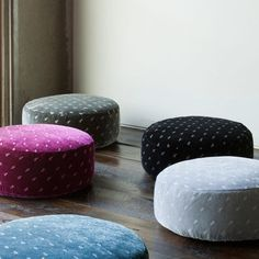 Silk Velvet Embroidered Pouf and Luxury Baby Cribs in Baby Furniture