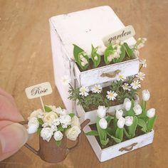 Miniature Flower garden ♡ ♡ By pansbear