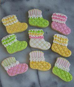 baby shower booties cookies