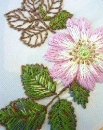 My briar rose embroidery