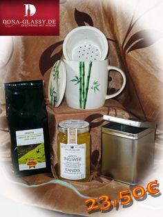 23,50€ - 5% Neukunden-Rabatt Geschenkset Grüner Tee - Geschenkidee - Geschenke