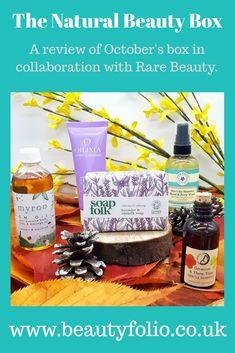 The Natural Beauty Box: October 2018 Natural Skin Care, Natural Beauty, Body Soap, Beauty Box, Collaboration, October, Posts, Green, Nature