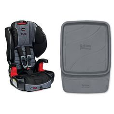 Britax Frontier G1.1 Clicktight Harness-2-Booster Car Seat Vibe and Vehicle Seat Protector