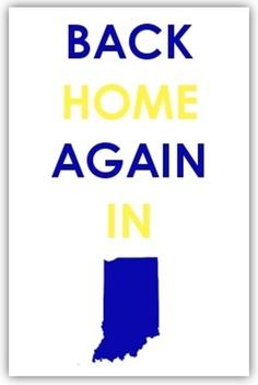 "Flyover Press ""Back Home Again"" Print http://www.kickstarter.com/projects/1716091885/flyover-press-letterpress-posters"