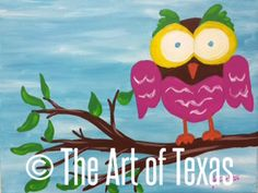 It's a Hoot 2 painting | The Art of Texas Kids | Midland, Texas