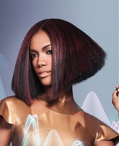 medium brown straight coloured multi-tonal relaxed ethnic hairstyles for women - great cut to create even more edge with the volume! Ethnic Hairstyles, African American Hairstyles, Popular Hairstyles, Latest Hairstyles, Straight Hairstyles, Relaxed Hairstyles, Cool Hairstyles, Medium Short Hair, Medium Hair Styles