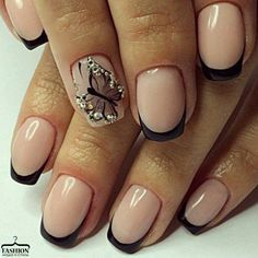 Butterfly Pattern Nail white and pink style with a butterfly pattern is utterly combined with the squoval style of medium nails. This exciting manicure is that the best plan for romantic. Creative Nail Designs, Toe Nail Designs, Creative Nails, Winter Nails 2017, Summer Toe Nails, Gelish Nails, Nail Manicure, Nail Polish, Rose Nails