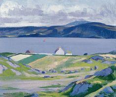 Francis Cadell (Scottish, The Sound of Iona Summer Landscape, Landscape Art, Landscape Paintings, Landscapes, Like A Rolling Stone, Impressionist Art, Art For Art Sake, Seascape Paintings, Fauna