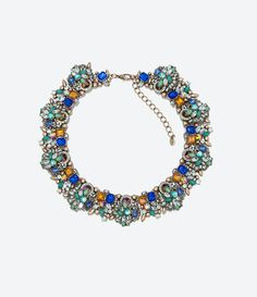 RHINESTONE NECKLACE from Zara
