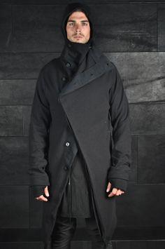 Boris Bidjan Saberi – Long Mask Hooded Cardigan
