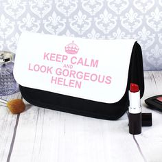 The perfect pouch to keep all your make-up or toiletries safe. Our Keep Calm make up bag is a wonderfully unique gift for her. Personalise with 2 lines of text [...]