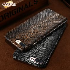 KISSCASE For iPhone 7 6 6S Plus 5 5S SE Luxury Crocodile Snake Leather Case Cover For Apple iPhone 7 6 6S Plus Phone Bag Coque