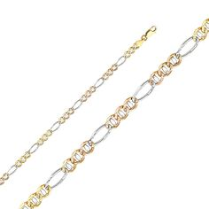 Sonia Jewels 14k White Gold Cuban Concave Chain Necklace With Lobster Claw Clasp