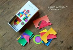 free printable Brilliant toy ---tangram style ---matchbox full of shapes ---endless entertainment on the go----Le DADA de l'Enfant Terrible: Château de poche / Kapesní hrad Creative Activities For Kids, Craft Activities, Diy For Kids, Fun Arts And Crafts, Crafts To Do, Crafts For Kids, Geek Crafts, Travel Scrapbook, Scrapbook Paper