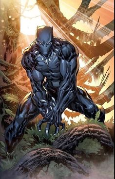 Black Panther: King, Warrior and Protector of Wakanda. Marvel Comics, Ms Marvel, Marvel Heroes, Rogue Comics, Comic Book Characters, Comic Book Heroes, Marvel Characters, Comic Books Art, Comic Art