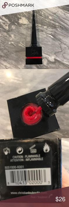 """Christian Louboutin nail polish Limited edition packaging red nail color. """"Vernis A Ongles""""never used Christian Louboutin Jewelry"""