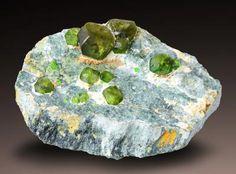 Andradite var.Demantoid - Sferlun, Val Malenco, Lombardia, Italy Size: 7.9 x 4.6 x 3.8 cm