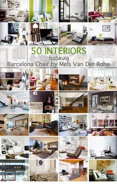 50 interiors that features Barcelona chair by Mies Van Der Rohe