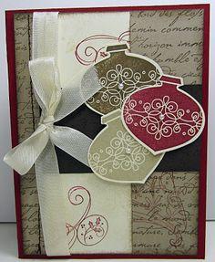 SU ornament Christmas card