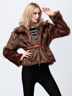 Zanzea® Thick Faux Rabbit Fur Coat