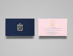 Logo and business cards with gold foil detail designed by Anagrama for event panner Checklist.